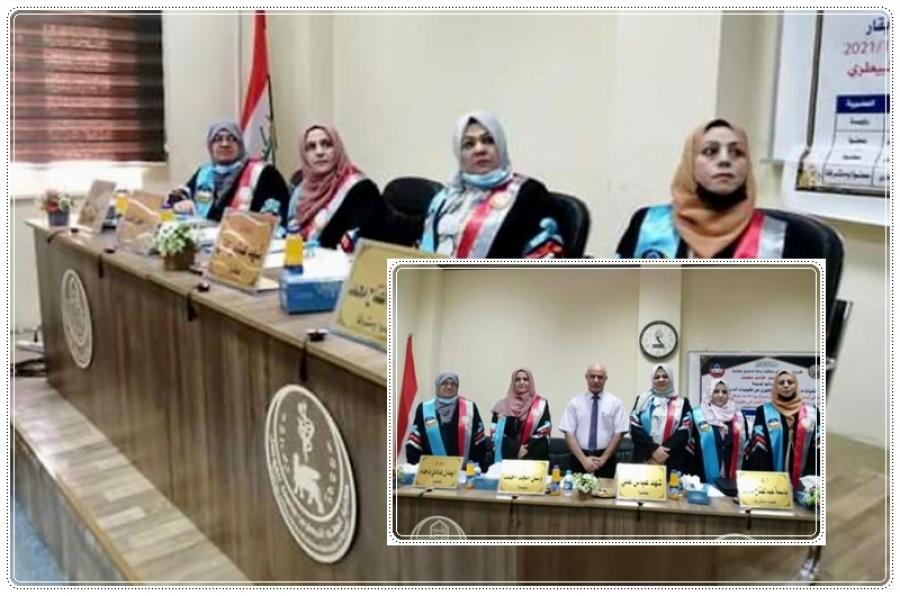 تدريسية من جامعة كركوك عضوا في لجنة مناقشة رسالة ماجستير بجامعة الموصل
