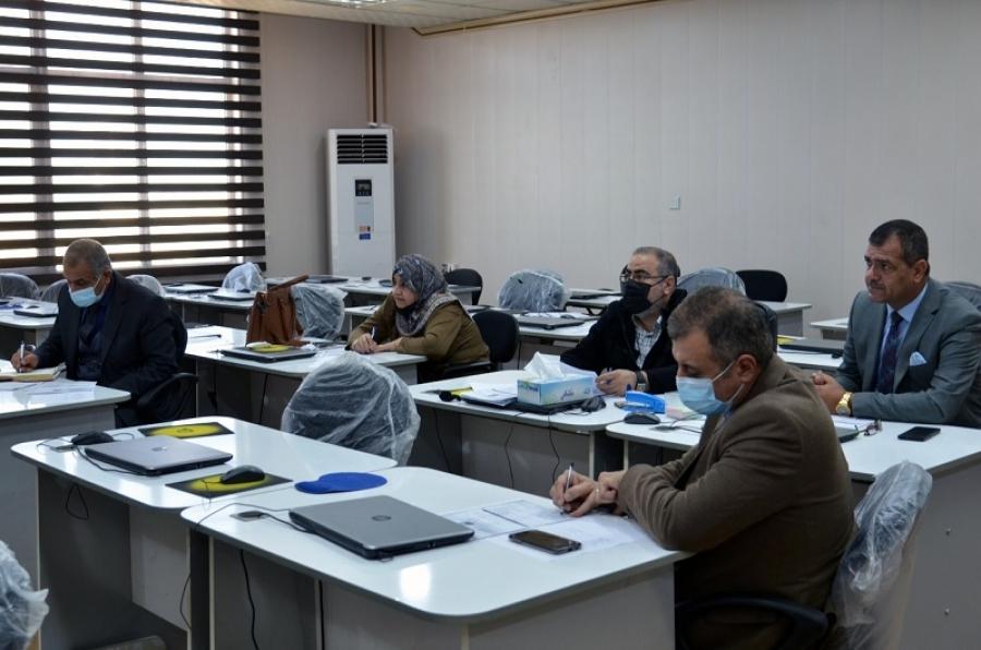 لجنة صلاحية التدريس في جامعة كركوك تختبر عدداً من حمَلة الشهادات العليا