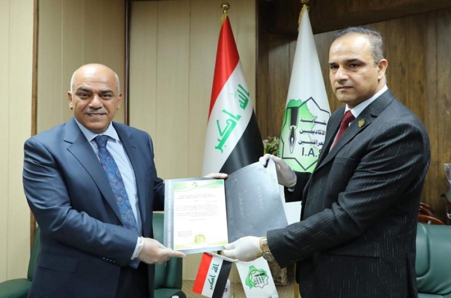 وزير التعليم يؤكد أهمية التكامل والعمل المشترك مع نقابة الأكاديميين العراقيين