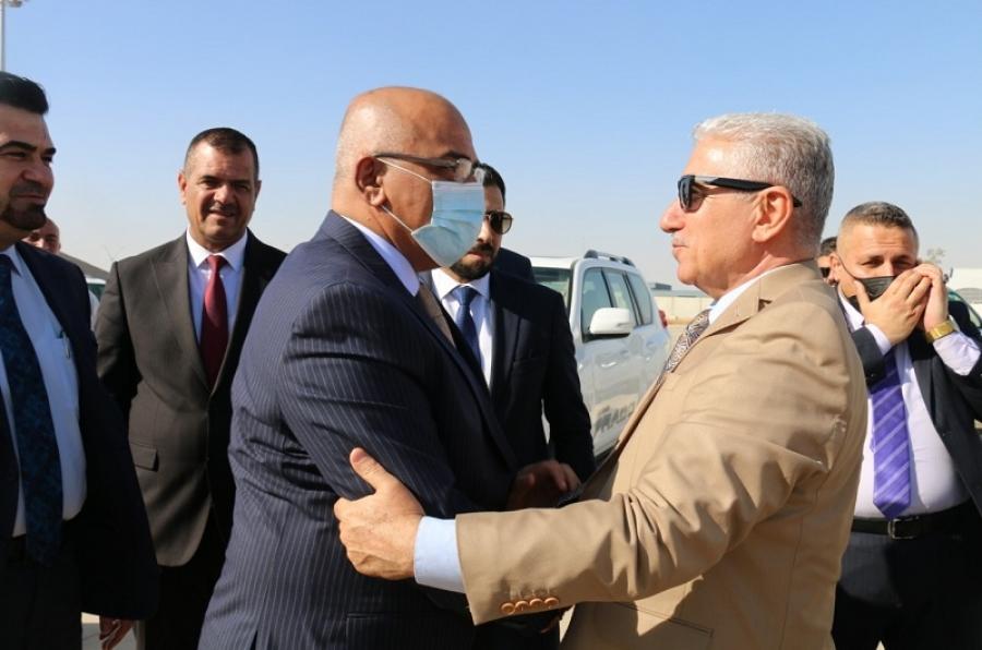 رئيس الجامعة يودع معالي وزير التعليم العالي في ختام زيارته الى محافظة كركوك