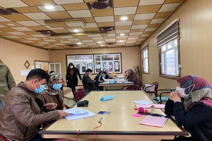 لجان استقبال الطلبة في كليات جامعة كركوك تواصل إجراءات التسجيل لطلبة القبول المركزي