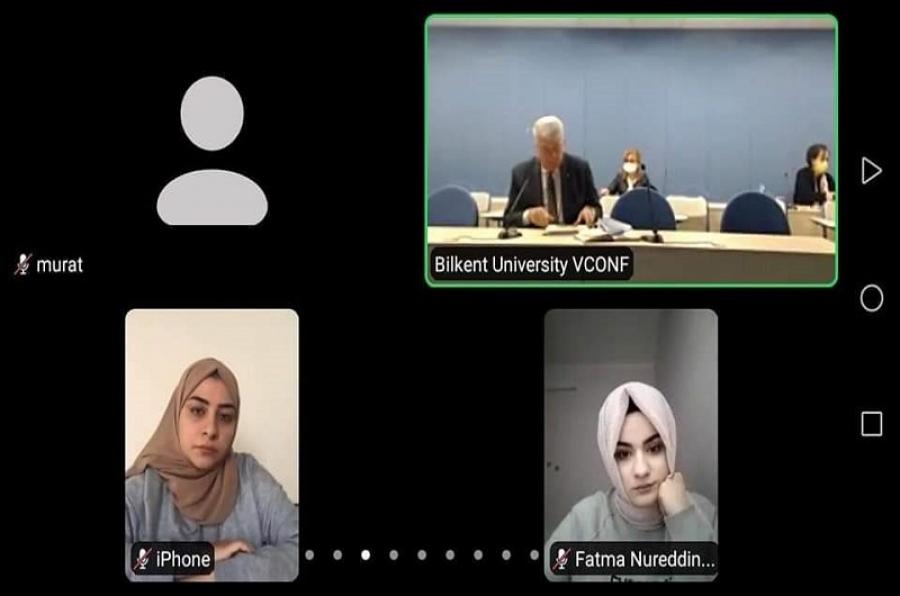 كلية التربية للعلوم الانسانية تنظم محاضرة إلكترونية لطلبتها مع جامعة بيلكنت التركية