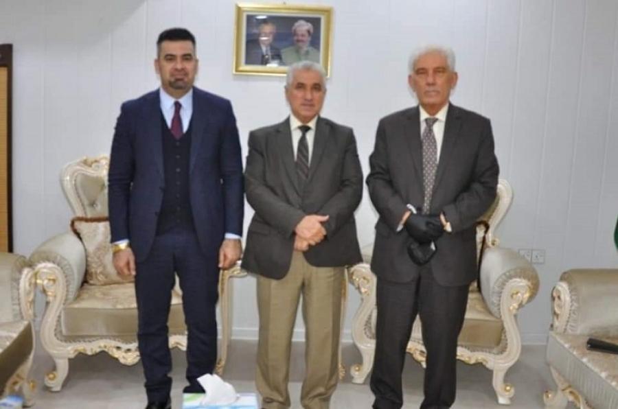 رئيس جامعة كركوك يبحث مع رئيس جامعة صلاح الدين تعزيز العلاقات والتعاون المشترك