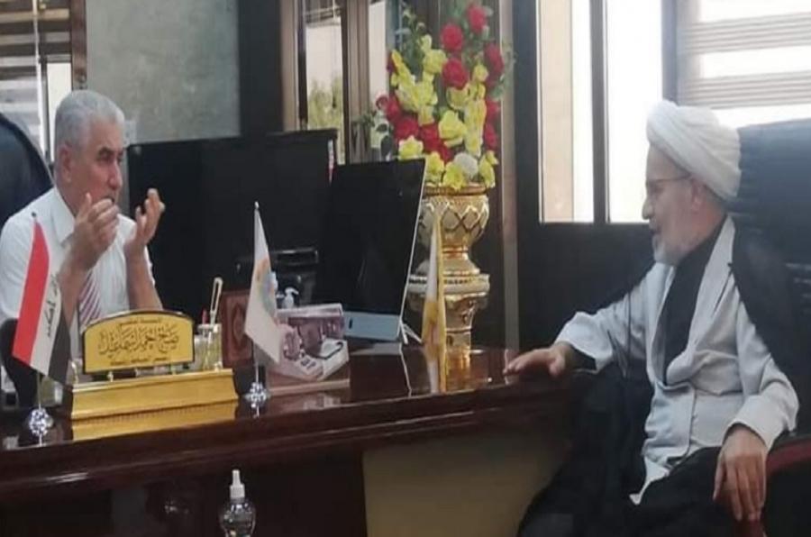 رئيس جامعة كركوك يستقبل مدير ديوان الوقف الشيعي في المحافظة