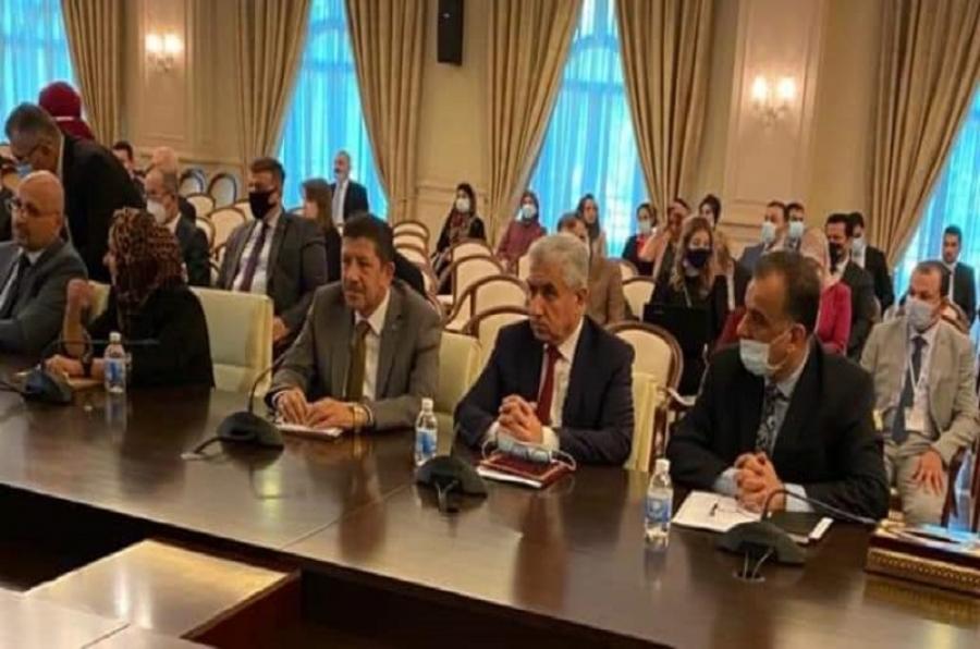 جانب من اجتماعات اللجنة العليا العراقية - المصرية على مستوى الخبراء