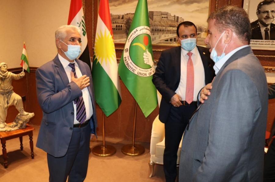 رئيس الجامعة ورئيس لجنة التعليم العالي النيابية يلتقيان مسؤول تنظيمات الاتحاد الوطني الكوردستاني في كركوك
