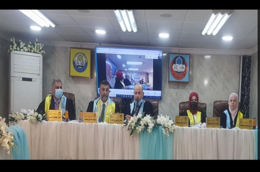 تدريسي في كلية القانون والعلوم السياسية يترأس لجنة مناقشة دكتوراه في جامعة الموصل