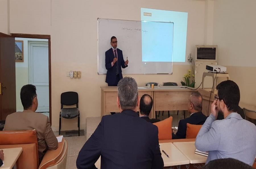 كلية الآداب تنظم محاضرة علمية عن رياضيات اللغة العربية