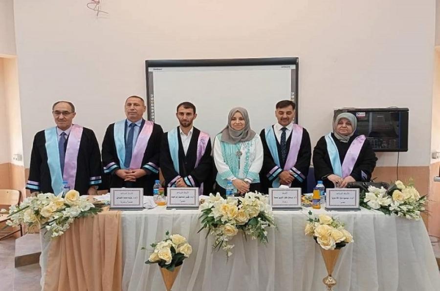 تدريسي بكلية علوم الحاسوب يترأس لجنة مناقشة ماجستير بجامعة الموصل