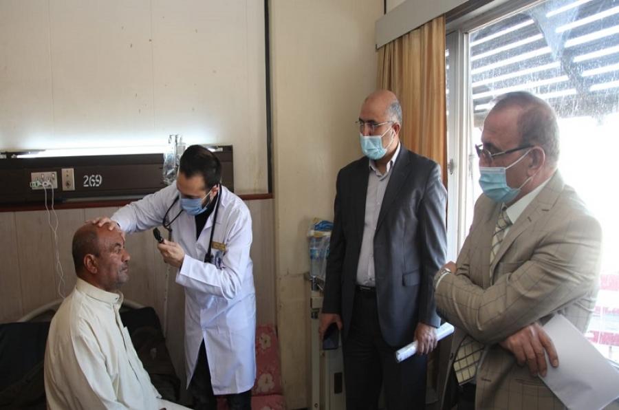 كلية الطب تجري الامتحان السريري لطلبة البورد العراقي في اختصاص الباطنية