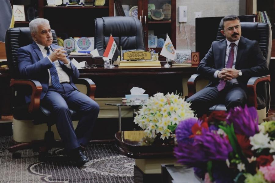 رئيس الجامعة يستقبل عضو لجنة التربية النيابية الدكتور مريوان نادر نصر الدين