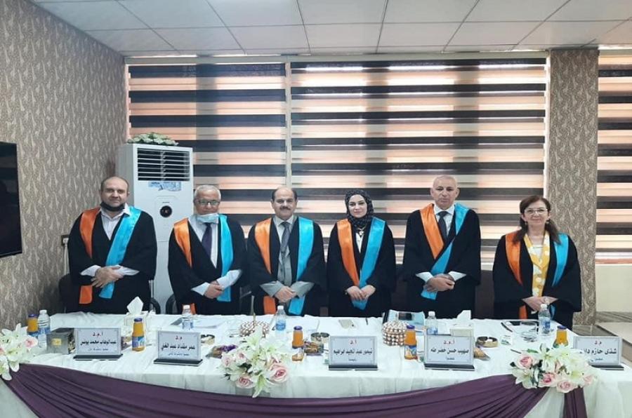 تدريسي في جامعة كركوك يشارك في عضوية رسالة ماجستير حول تحليل الجفاف المناخي بجامعة الموصل