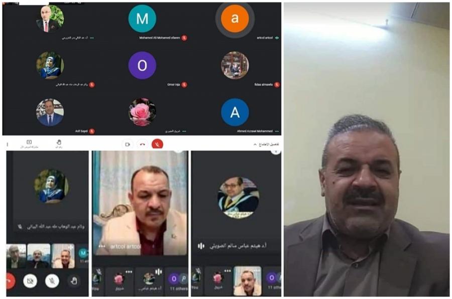 عميد كلية الاداب يشارك في اجتماع عمداء كليات الاداب واللغات في الجامعات العراقية