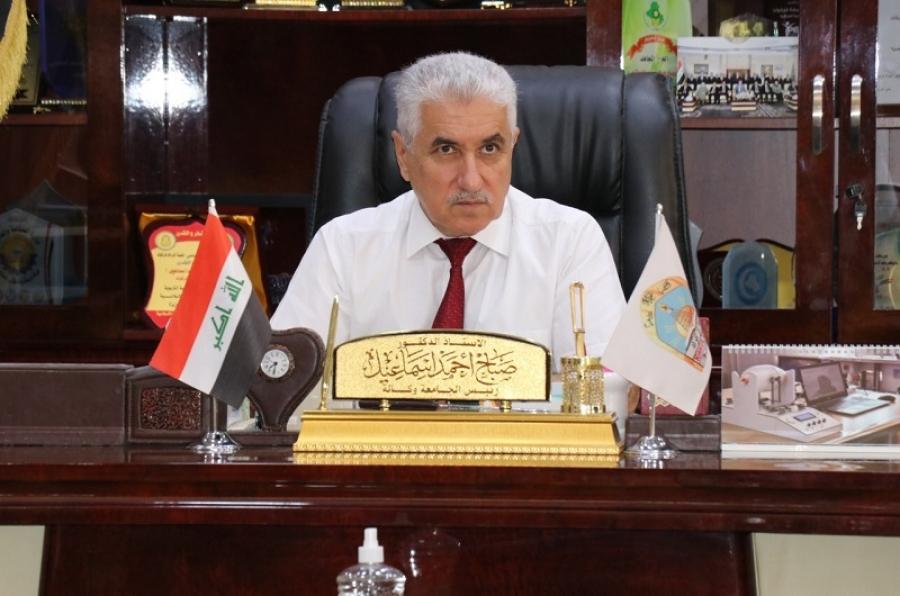 رئيس جامعة كركوك يستقبل وفدا من لجنة التربية لمنظمة بدر في تربية كركوك