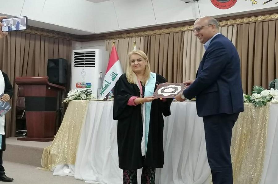 تدريسية من جامعة كركوك  عضوا  مناقشا في جامعة الموصل