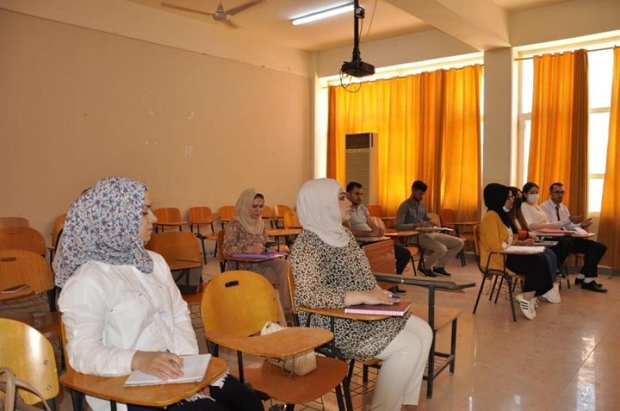 طلبة الدراسات العليا في جامعة كركوك يباشرون دوامهم وفقا لمقاعدهم الدراسية المخصصة