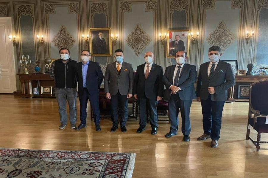 ممثلاً لرئيس جامعة كركوك... المساعد الإداري يلتقي رئيس جامعة اسطنبول ويبحثان توقيع مذكرة تعاون مشترك