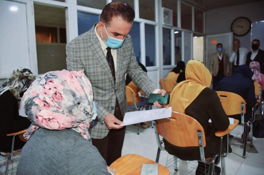 كلية التربية للعلوم الانسانية تجري اختبارات القبول المباشر بقسم اللغة التركية