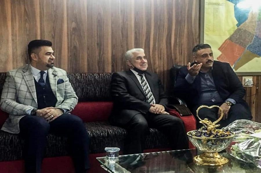 رئيس الجامعة يهنئ مدير جهاز الأمن الوطني في  كركوك بمناسبة تسنمه مهام المنصب