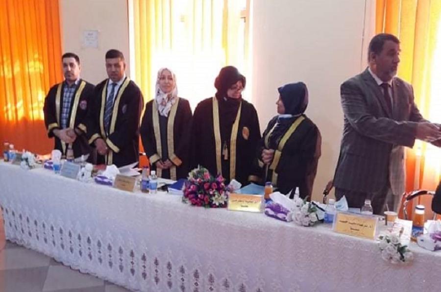 تدريسي من جامعة كركوك عضوا مناقشا لاطروحة دكتوراه  في جامعة بغداد