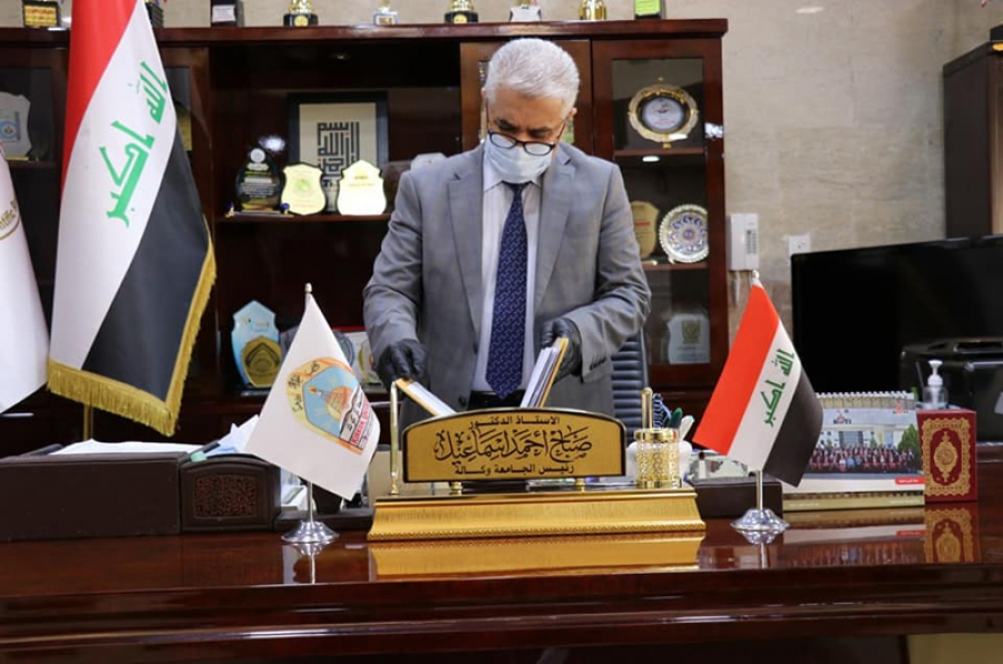 The President of the University of Kirkuk authenticate the results of the second-attempt exams for the College of Engineering