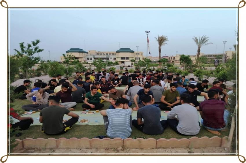 افطار جماعي للاقسام( 1-2-3) في مديرية الاقسام الدخلية جامعة كركوك