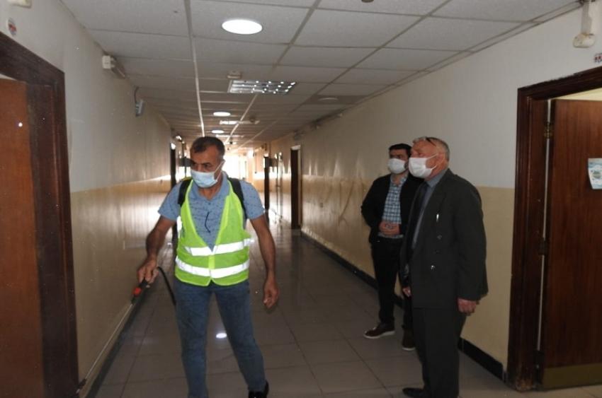 مديرية الاقسام الداخلية تشهد حملة تعفير واسعة لمجمع الاقسام الداخلية للطلاب