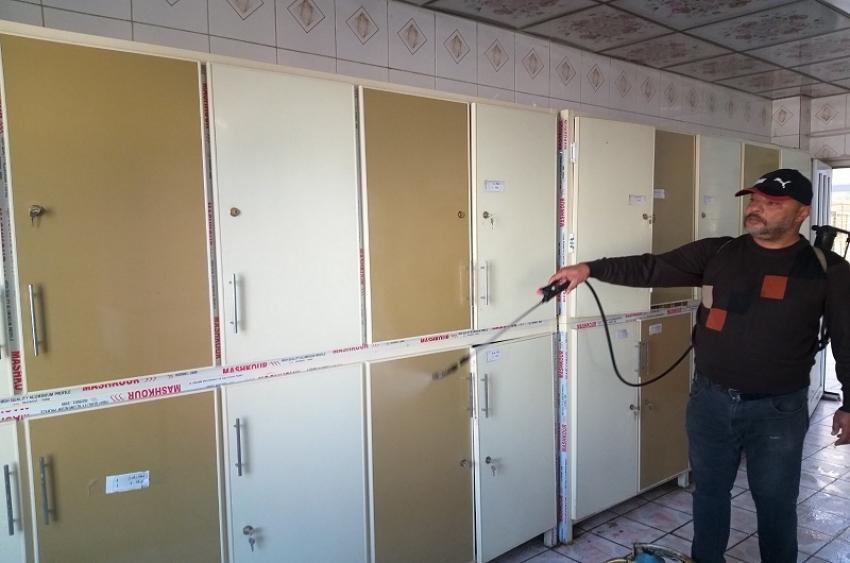 مديرية الاقسام الداخلية تشهد حملة تعفير لمجمع الاقسام الداخلية  للوقاية من انتشار فيروس كورونا