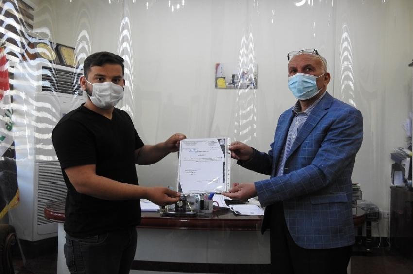 مديرية الاقسام الداخلية تلبي نداء مصرف الدم الرئيسي في كركوك