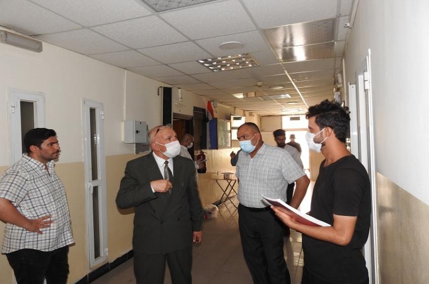 مديرية الاقسام الداخلية يستقبل الطلبة المشمولين في السكن لاداء الامتحانات الحضورية