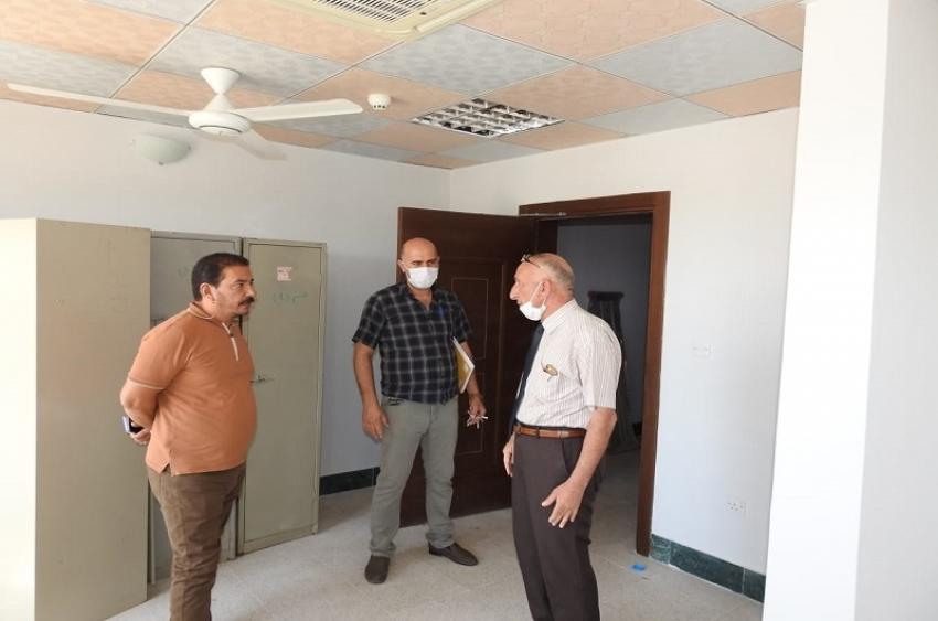 مديرية الاقسام الداخلية تقوم بتجهيز المستلزمات والاثاث للمجمع الجديد للطالبات