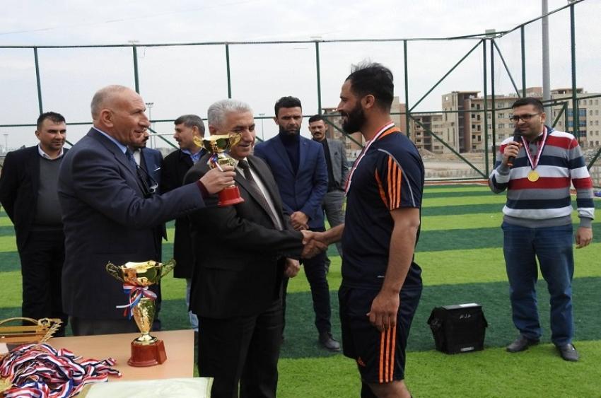 مديرية الاقسام الداخلية تختتم بطولة شهداء العراق الرياضية للدور الاول