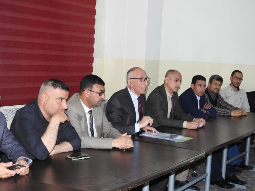 مديرية الأقسام الداخلية في جامعة كركوك يستقبل وفد من ثانوية الخان المختلطة .