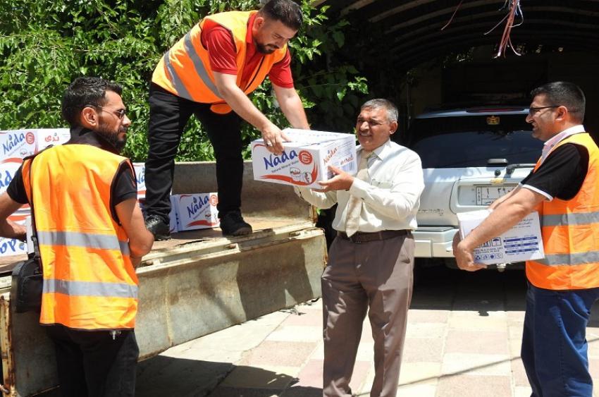 مبادرة فريق سفراء السلام التطوعي للإعلام المجتمعي  توفير  مياه  صالحة للشرب  للطلبة