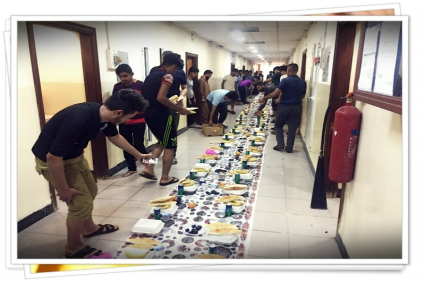 مأدبة افطار جماعي للطالبات في مديرية الاقسام الداخلية جامعة كركوك