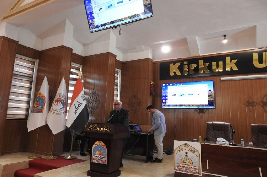 مديرية الأقسام الداخلية جامعة كركوك تقيم ندوة صحية لطلبتها بالتنسيق مع دائرة صحة كركوك